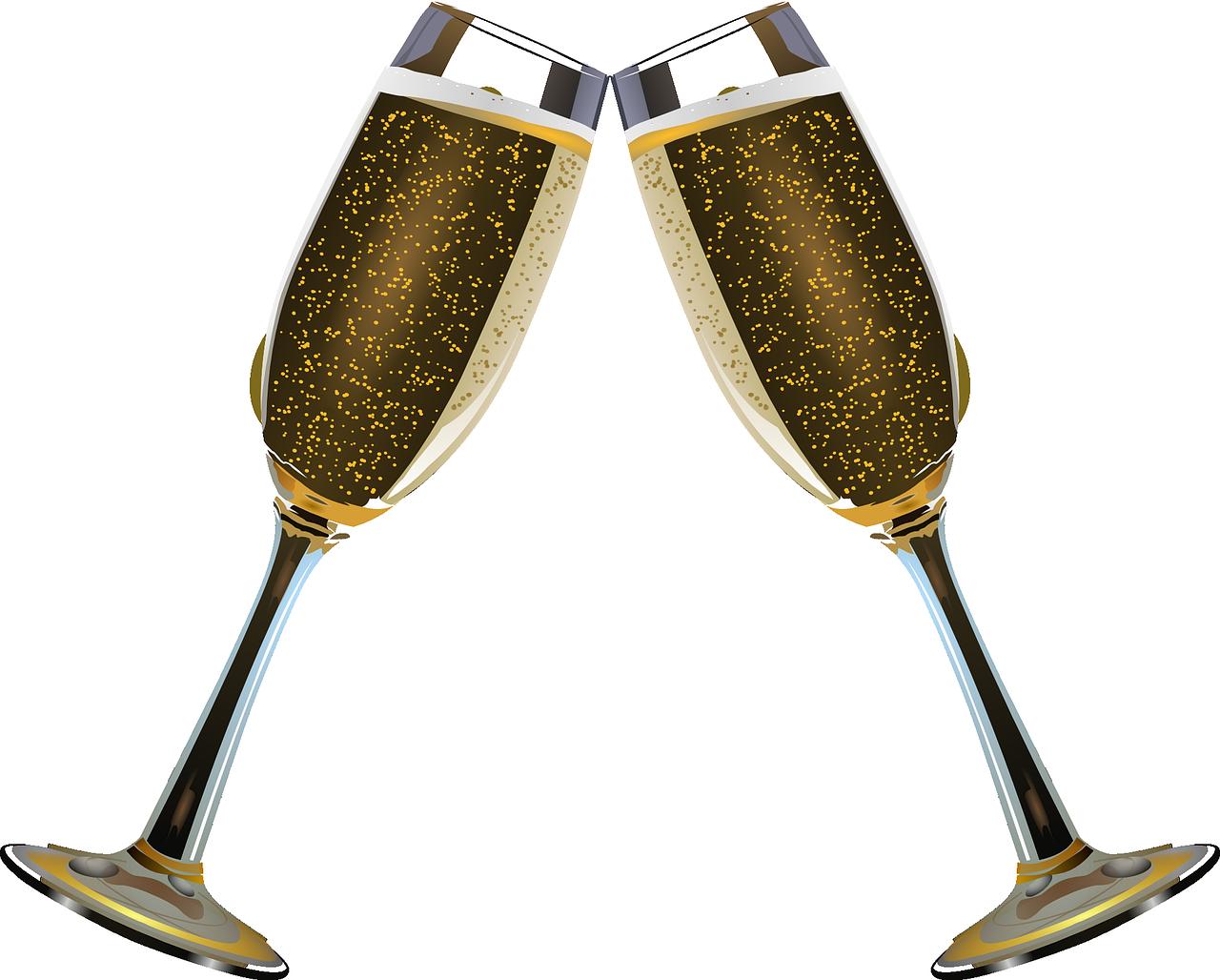 Kaksi shampanjalasia